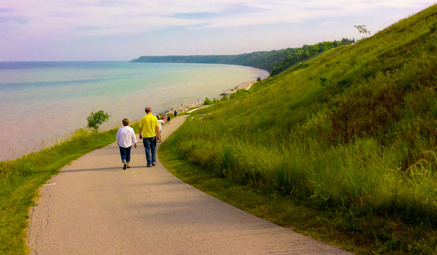 Mequon Wisconsin Walking Path Bluffs