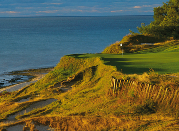 Whistling Straits along the beautiful shores of Lake Michigan