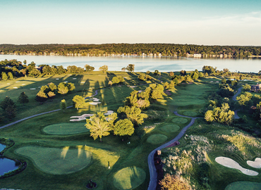 A golf course in beautiful Lake Geneva Wisconsin